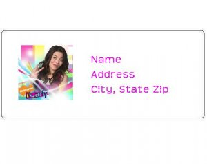 30 Personalized iCarly Return Address Labels