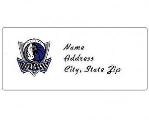 30 Personalized NBA Dallas Mavericks Return Address Labels