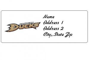 30 Personalized NHL Hockey Anahiem Ducks Return Address Labels