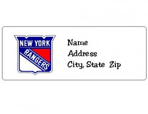 30 Personalized NHL Hockey New York Rangers Return Address Labels