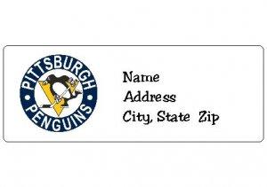 30 Personalized NHL Hockey Pittsburgh Penguins Return Address Labels