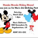 8 Personalized Mickey Mouse Birthday Invitations