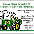 8 Personalized Green Tractor John Deere Birthday Invitations