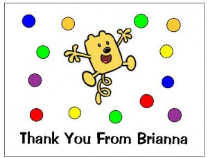 8 Personalized Wow Wow Wubbzy Thank You Cards / Note Cards