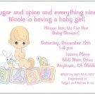 8 Personalized Precious Moments Baby Girl Shower Invitations