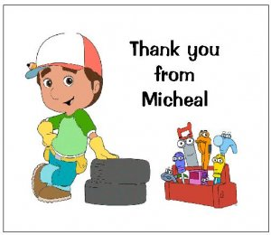8 Personalized Handy Manny Thank You Cards / Note Cards