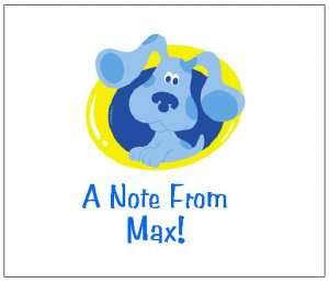 8 Personalized Blues Clues Thank You Cards / Note Cards