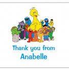 8 Personalized Sesame Street Thank You Cards / Note Cards