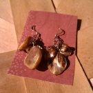 Caramel Brown Shell Earrings
