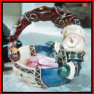 Festive Snoman Candy Dish Christmas