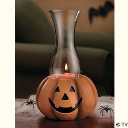 JACK-O'-LANTERN HURRICANE CANDLE HOLDER HALLOWEEN