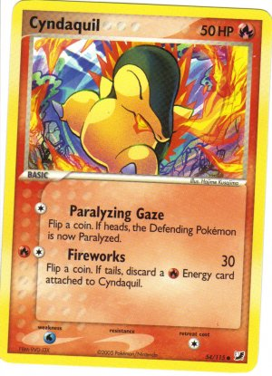 Pokemon Card Unseen Forces Cyndaquil 54/115