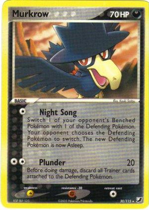 Pokemon Card Unseen Forces Murkrow 30/115