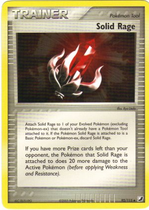 Pokemon Card Unseen Forces Trainer Solid Rage