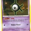 Pokemon Card DP Secret Wonders Unown K 68/132