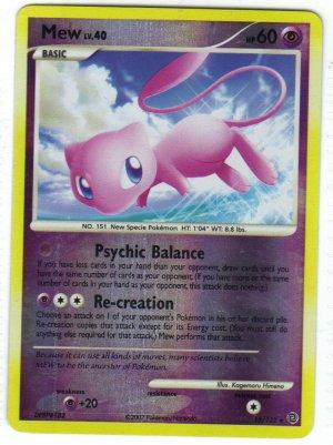 Pokemon Card DP Secret Wonders Reverse Holo Mew 15/132