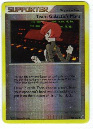 Pokemon Card DP Secret Wonders Reverse Holo Trainer Team Galactic's mars