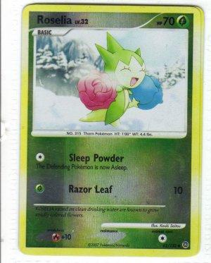 Pokemon Card DP Secret Wonders Reverse Holo Roselia 62/132
