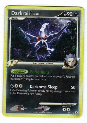 Pokemon Card Platinum Rising Rivals  Holo Darkrai 3/111