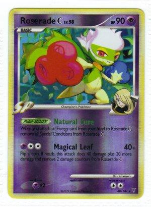 Pokemon Card Platinum Supreme Victors  Rev Holo Roserade 40/147