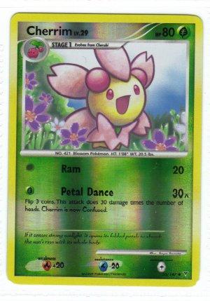 Pokemon Card Platinum Supreme Victors  Rev Holo Cherrim 55/147