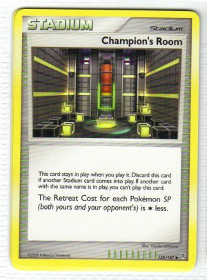 Pokemon Card Platinum Supreme Victors  Trainer Champion's Room
