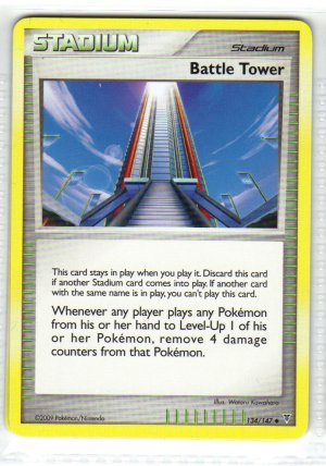Pokemon Card Platinum Supreme Victors  Trainer Battle Tower