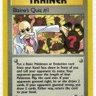Pokemon Card Gym Heroes Trainer Blaine's Quiz #1