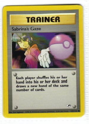 Pokemon Card Gym Heroes Trainer Sabrina's Gaze