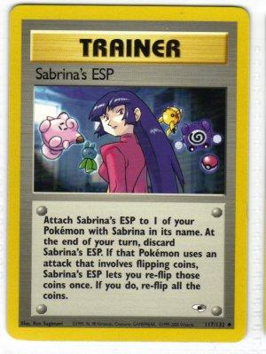 Pokemon Card Gym Heroes Sabrina's ESP