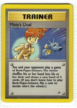 Pokemon Card Gym Heroes Trainer Misty's Duel