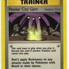 Pokemon Card Gym Heroes Trainer Pewter City Gym