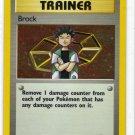 Pokemon Card Gym Heroes Holo Trainer Brock