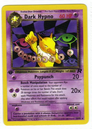 Pokemon Card Team Rocket  Dark Hypno 26/82