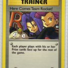 Pokemon Card Team Rocket Trainer Here Comes Team Rocket