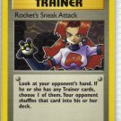 Pokemon Card Team Rocket Trainer Rocket's Sneak Attack