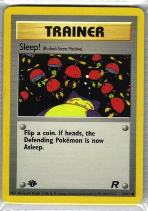 Pokemon Card Team Rocket Trainer Sleep!