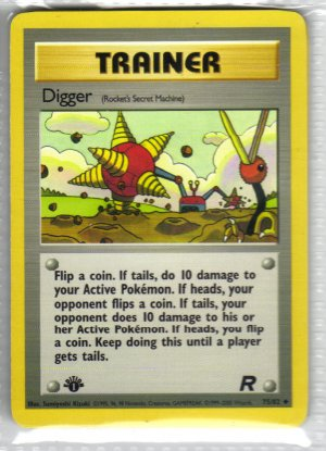 Pokemon Card Team Rocket Trainer Digger