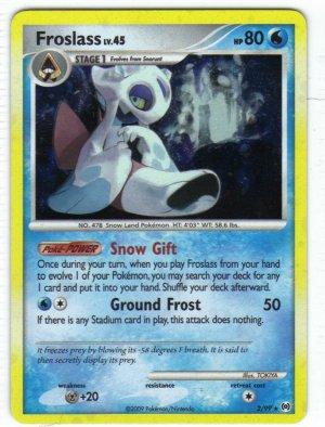 Pokemon Card Platinum Arceus Holo Froslass 2/99