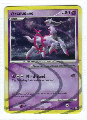 Pokemon Card Platinum Arceus Holo Arceus ar7