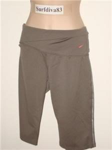NwT M NIKE Women Dri-FIT Pranidana Knee Shorts New $50 Medium