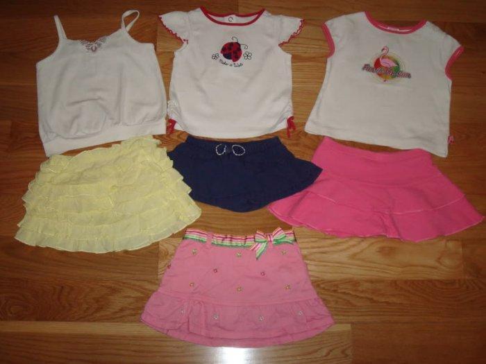 12 18 24 Girls GYMBOREE Old Navy Lot Top Skirt Rhumba