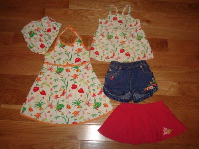 12 18 24 GYMBOREE Girls Tropical Paradise Dress Top Lot