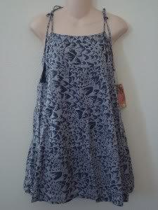 Nwt L BILLABONG Women Wild Child Print Dress New $40