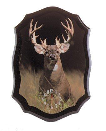 Beautiful Standing White Tail Buck Clock NEW NIB