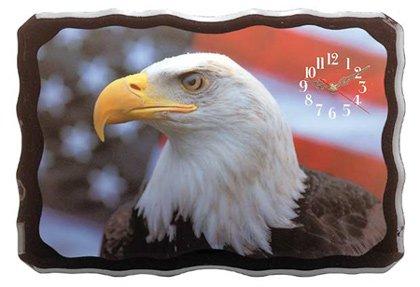 Beautiful Eagle And American Flag Clock NEW NIB