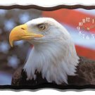 Beautiful Eagle And American Flag Clock NEW NIB