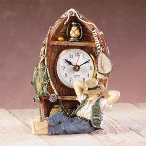 Alabastrite Fisherman Boat Clock NEW NIB