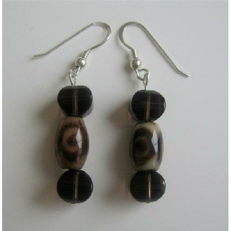 ERC370 Tiger Eye Sterling Silver 92.5 Earrings