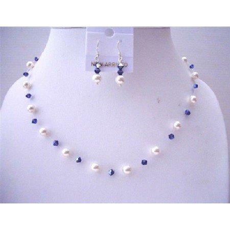 BRD527  Ab Voilet Swarovski Crystals w/ Genuine Swarovski White Pearls Custom
